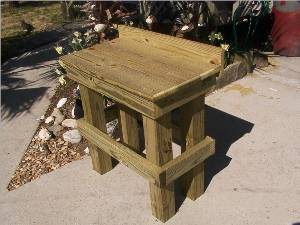 Pergola and other fish cleaning table plans here for Homemade fish cleaning table